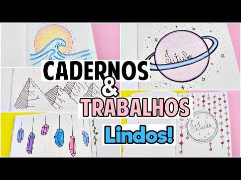 10 IDEIAS PARA DEIXAR O CADERNO E OS TRABALHOS BONITOS | DIVISÓRIAS, CAPAS DE TRABALHO ...