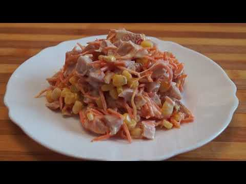 Салат Пятиминутка-Простой Вкусный и Сытный Рецепт