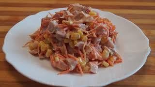 Салат Пятиминутка Простой Вкусный и Сытный Рецепт