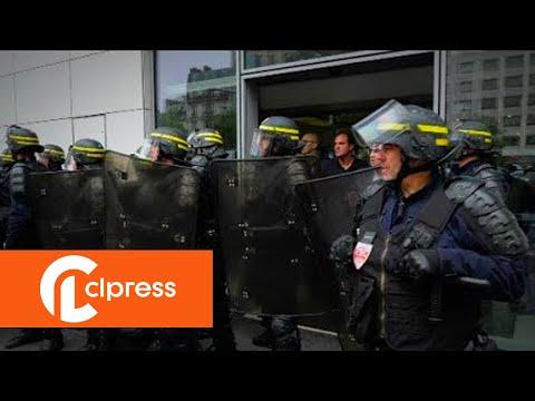 Tentative d'envahissement du siège M6 par les cheminots (12 juin 2018, France)