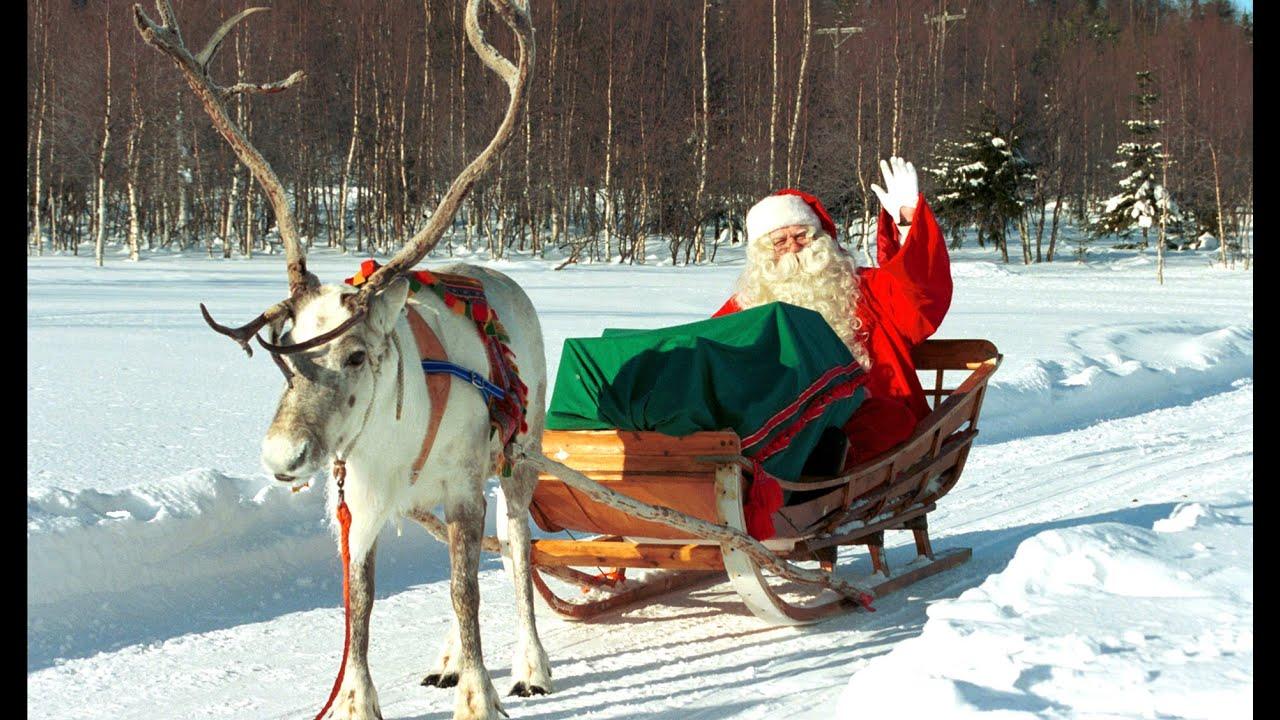 abreise und weihnachtsgr sse des weihnachtsmannes lappland finnland rovaniemi santa claus