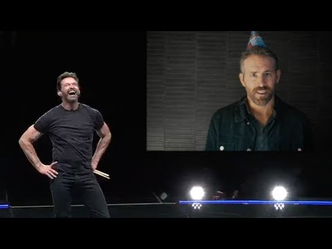 Cort Webber - Ryan Reynolds surprises Hugh Jackman on stage with birthday song