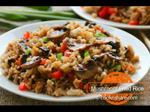 Mushroom Fried Rice - Fast & Delicious
