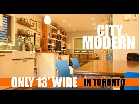 "Only 13' Wide- The ""SMALL not Tiny"" MODERN HOUSE- Toronto"
