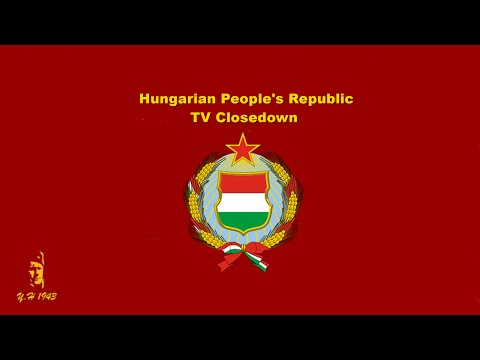 Hungarian People's Republic TV Closedown (1989)