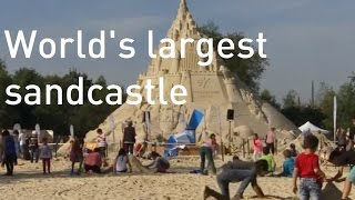 The world's largest sandcastle misses out on Guinness World Record