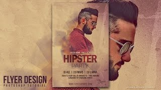 How to Design a Hipster Party Flyer In Photohsop