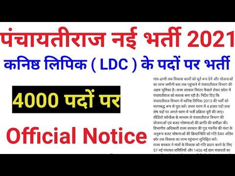 राजस्थान पंचायती राज नई भर्ती 2021 |  कनिष्ठ लिपिक ( LDC ) | कनिष्ठ लिपिक 4000 पदों पर भर्ती | Job