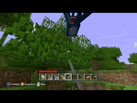 Minecraft  Xbox 360 Gameplay - Squid Glitch, Dungeon, Saddle & Pig Riding