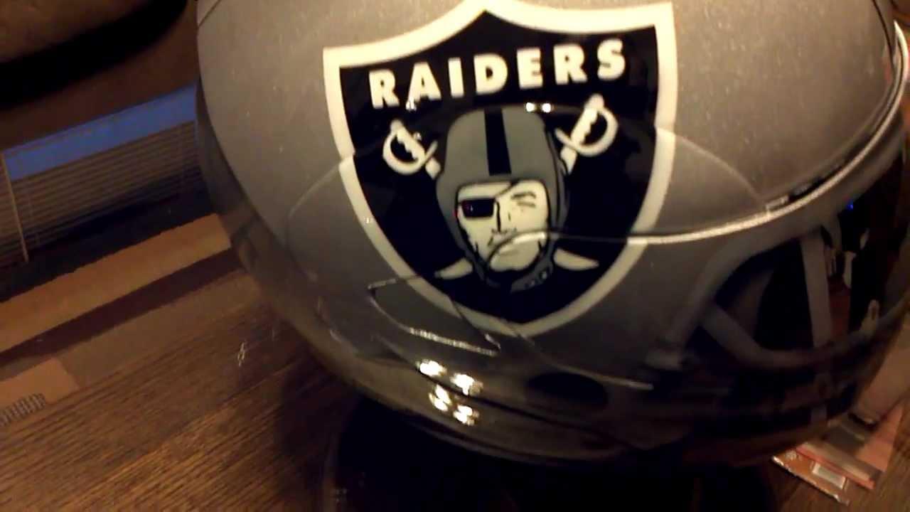 Custom Painted Raiders Motorcycle Helmet Youtube