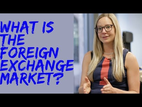 What is the foreign exchange market?