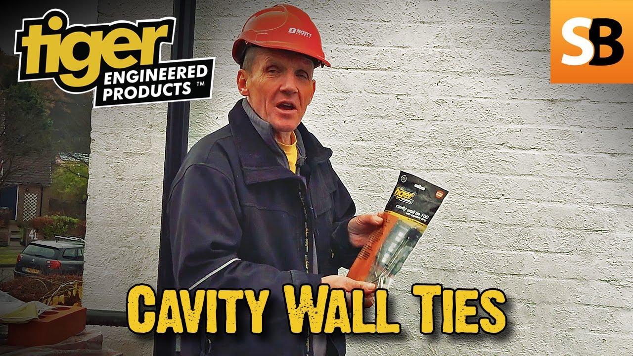 Tiger Fixings 10 Pack 150mm Wall Ties Cavity Wall Ties Starter Wall Ties