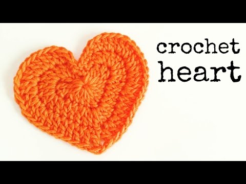 How to crochet a HEART (medium size) ♥ CROCHET LOVERS