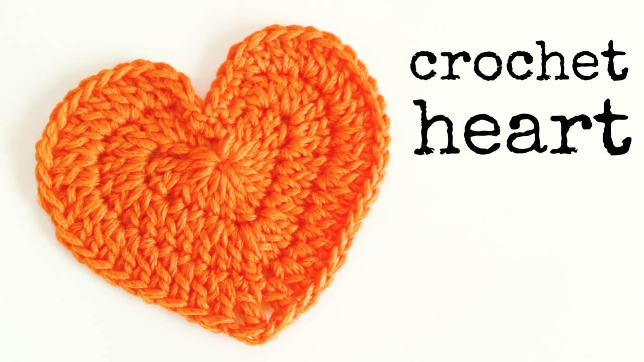 Crochet A Heart : How to crochet a HEART (medium size) ? CROCHET LOVERS - YouTube