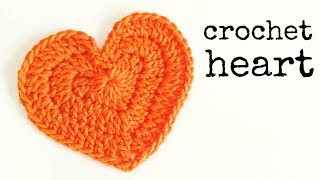How to crochet a HEART (medium size) ♥ CROCHET LOVERS