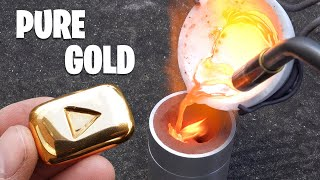 Casting Gold YouTube Play Button