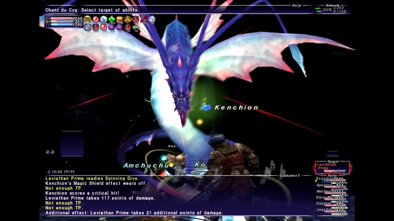 FFXI - Fighting Leviathan On Difficult for Gil