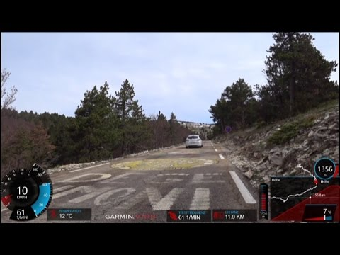 60 Minute Uphill Cycling Training Mont Ventoux Full HD