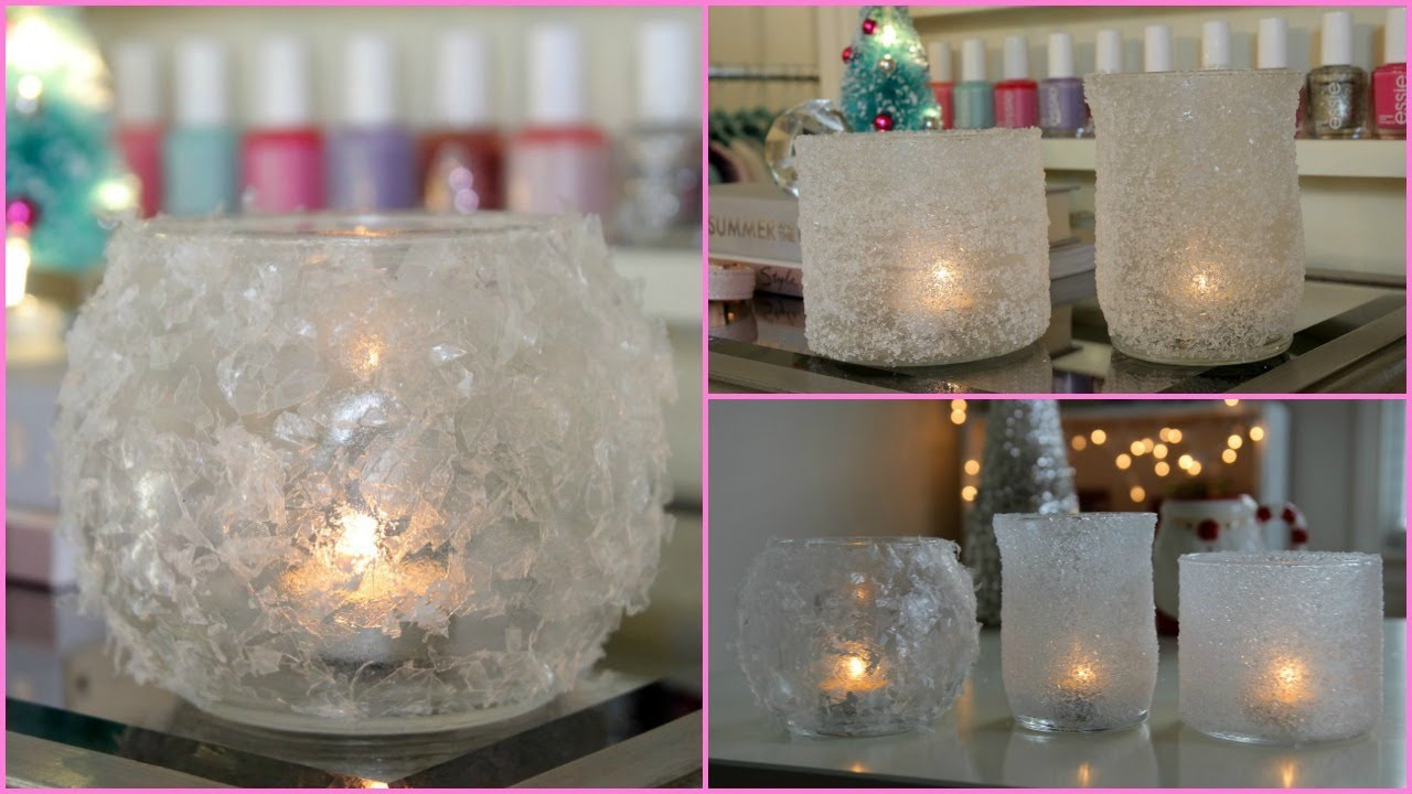 diy winter room decor winter votives youtube