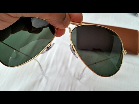 how to tell if sunglasses are real ray bans  how to spot fake rayban aviator sunglasses (highest grade fake rb 3025) youtube