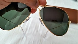 How to Spot Fake Rayban Aviator Sunglasses (highest grade fake RB 3025)(Check the video and pics at the end to spot difference between highest grade fake Rayban aviators and originals. These fakes are the highest quality I've ever ..., 2015-04-17T03:14:22.000Z)
