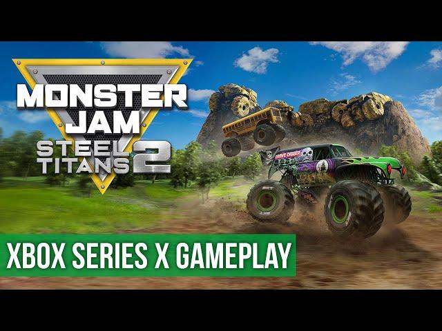 Monster Jam Steel Titans 2 - Gameplay (Xbox Series X) HD 60FPS