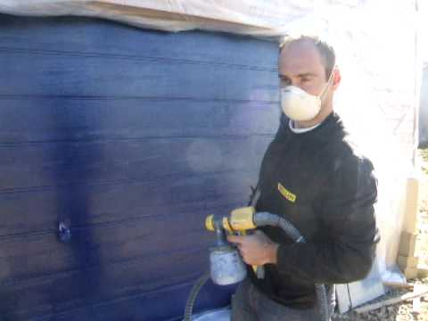 Peinture de la porte du garage fa on terminator youtube for Peindre une porte en pvc