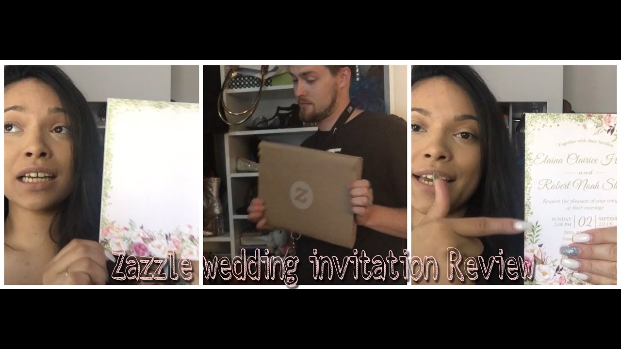 Zazzle Wedding Invitation Review Youtube