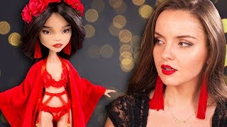 IN UNDERWEAR! HOT Asian OOAK-doll Lu Lan | Custom from Monster High and Ever After High | Review