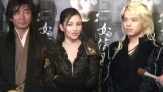 女優の黒木メイサが織田信長を演じる舞台「女信長」の公開舞台けいこが...