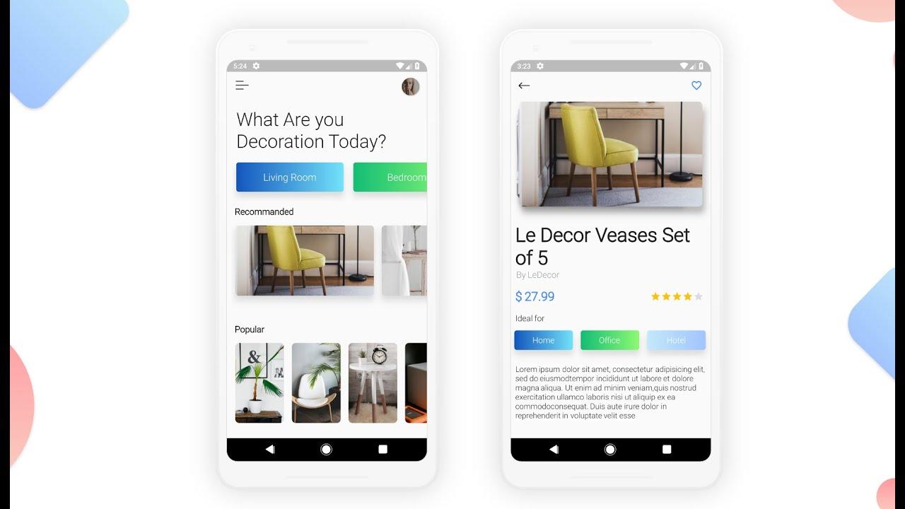Flutter - Home Decor E-commerce App UI with Source code