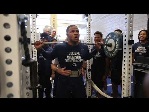 Penn State football: Micah Parsons maxes out in the squat during strength and conditioning session