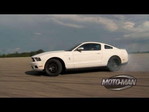 Vaughn Gittin Jr Teaches MotoMan How To Drift A Ford Mustang