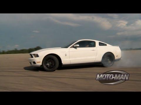 Vaughn Gittin Jr Teaches MotoMan How To Drift A Ford Mustang