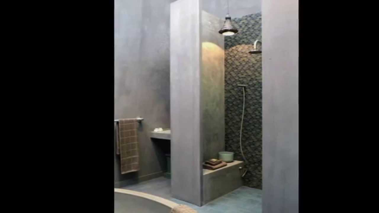 52 photos de douche italienne youtube - Mur douche sans carrelage ...