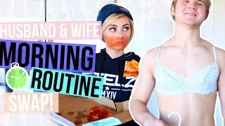 Husband & Wife Morning Routine Swap! | Aspyn Ovard