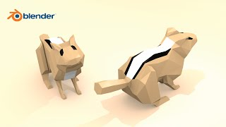 Blender Demo -- Low Poly Chipmunk Speed Design