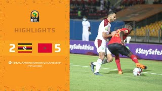 HIGHLIGHTS   Total CHAN 2020   Round 3 - Group C: Uganda 2-5 Morocco