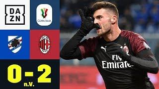 Patrick Cutrone rettet Milan in der Verlängerung: Sampdoria - AC Mailand 0:2 n.V. | Coppa Italia