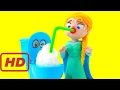 FROZEN ELSA DRINKS FROM A TOILET CANDY もこもこモコレット Animated Movies Play Doh Stop Motion Video
