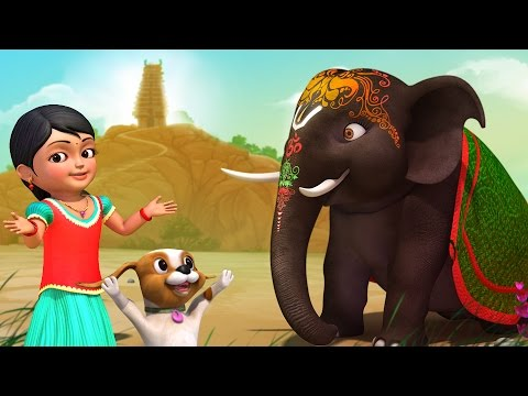 அழகர் ஆனை | Tamil Rhymes for Children | Infobells