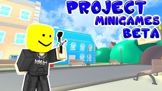 playing project minigames - roblox