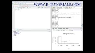 R tutorials - introduction to R Studio