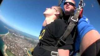 Jason blacked out skydiving