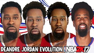 DeAndre Jordan Evolution - Face Comparison (NBA 2K9 - NBA 2K17)