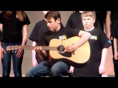 Gabriel Schmidt performing with Vinton Shellsburg Middle School Jazz Band/Choir March 17th, 2015