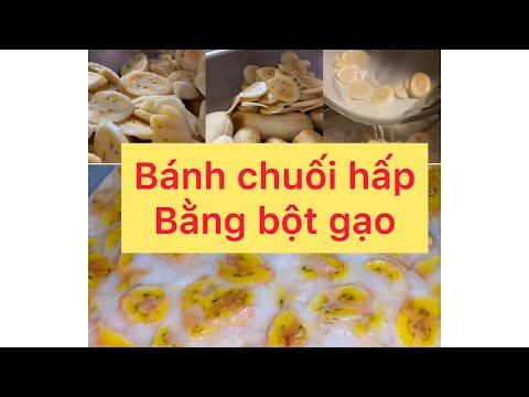 cách làm bánh chuối hấp bột mì