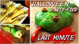 Halloween Party Food - Last Minute - Pizza-Schlange, kleine Besen... | Collchen14