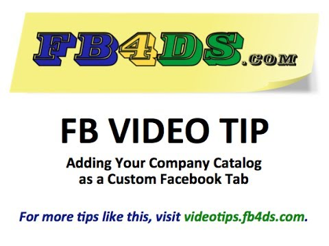 Create a Custom Catalog Facebook Tab