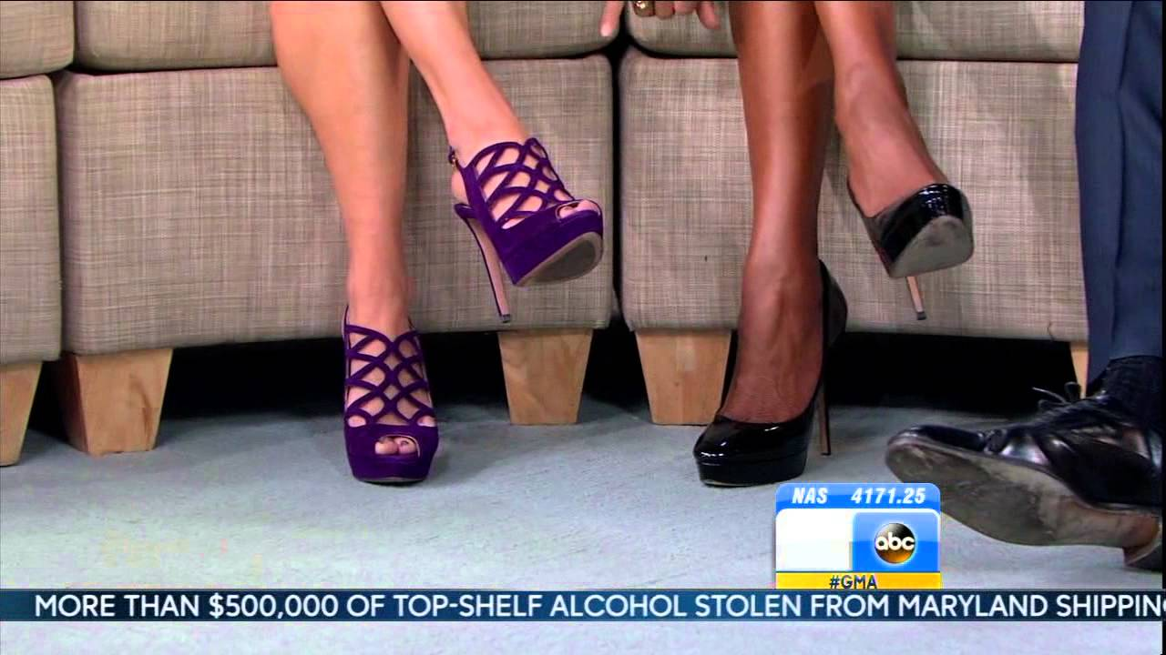 Ginger Zee Hot Pics pertaining to amy robach & lara spencer & ginger zee - close up high heels & hot